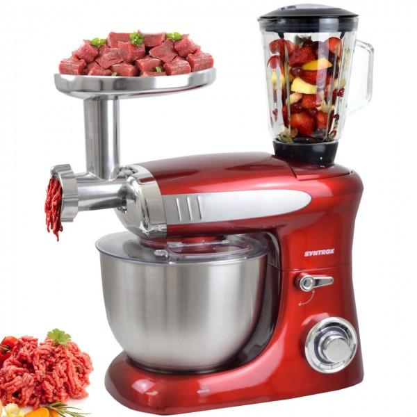 Küchenmaschine Knetmaschine mit Fleischwolf und Mixer 1300 W de Luxe
